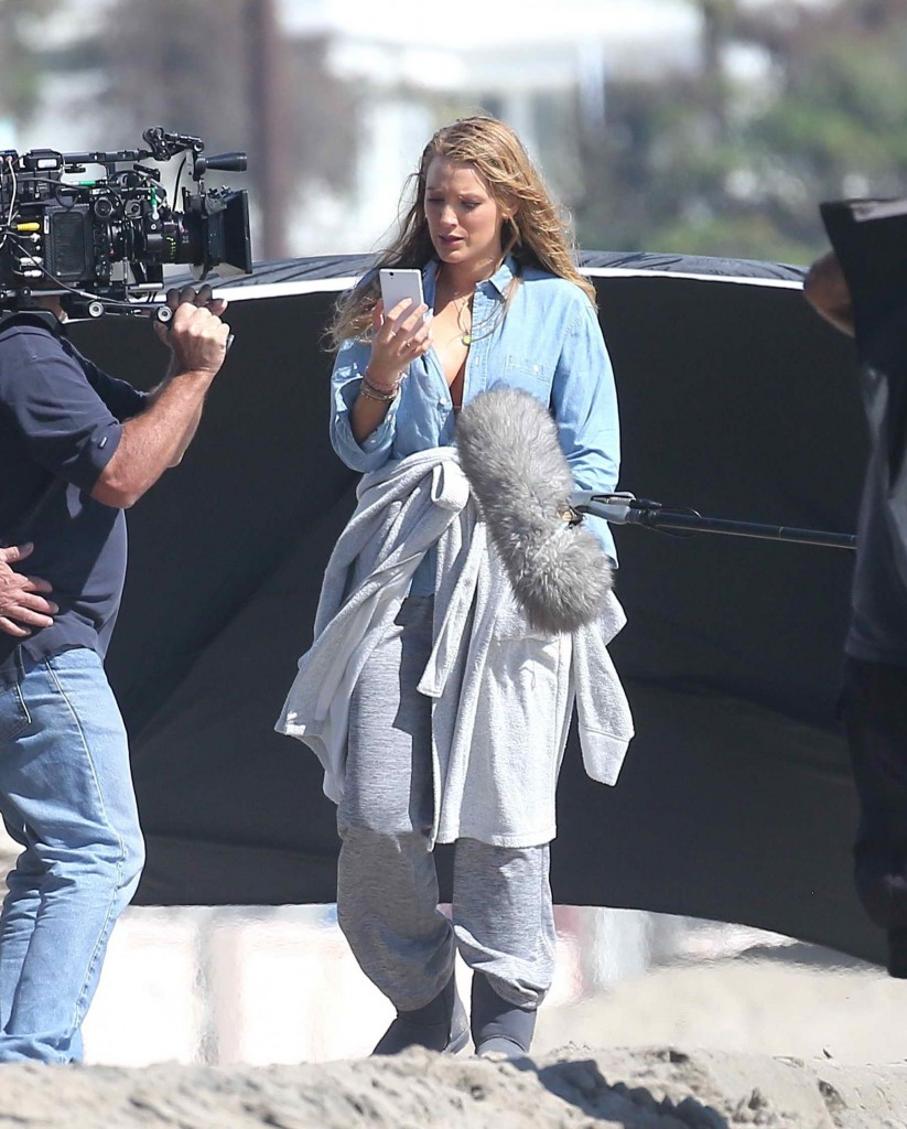 Blake Lively Filming for The Shallows at the Beach in Malibu-1