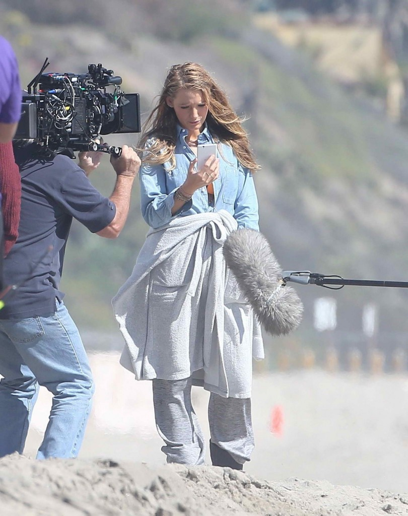 Blake Lively Filming for The Shallows at the Beach in Malibu-2