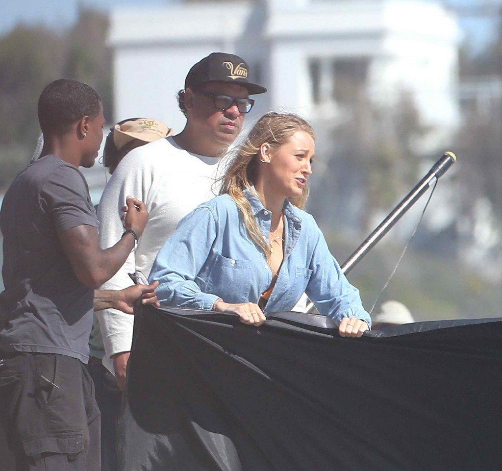 Blake Lively Filming for The Shallows at the Beach in Malibu-3
