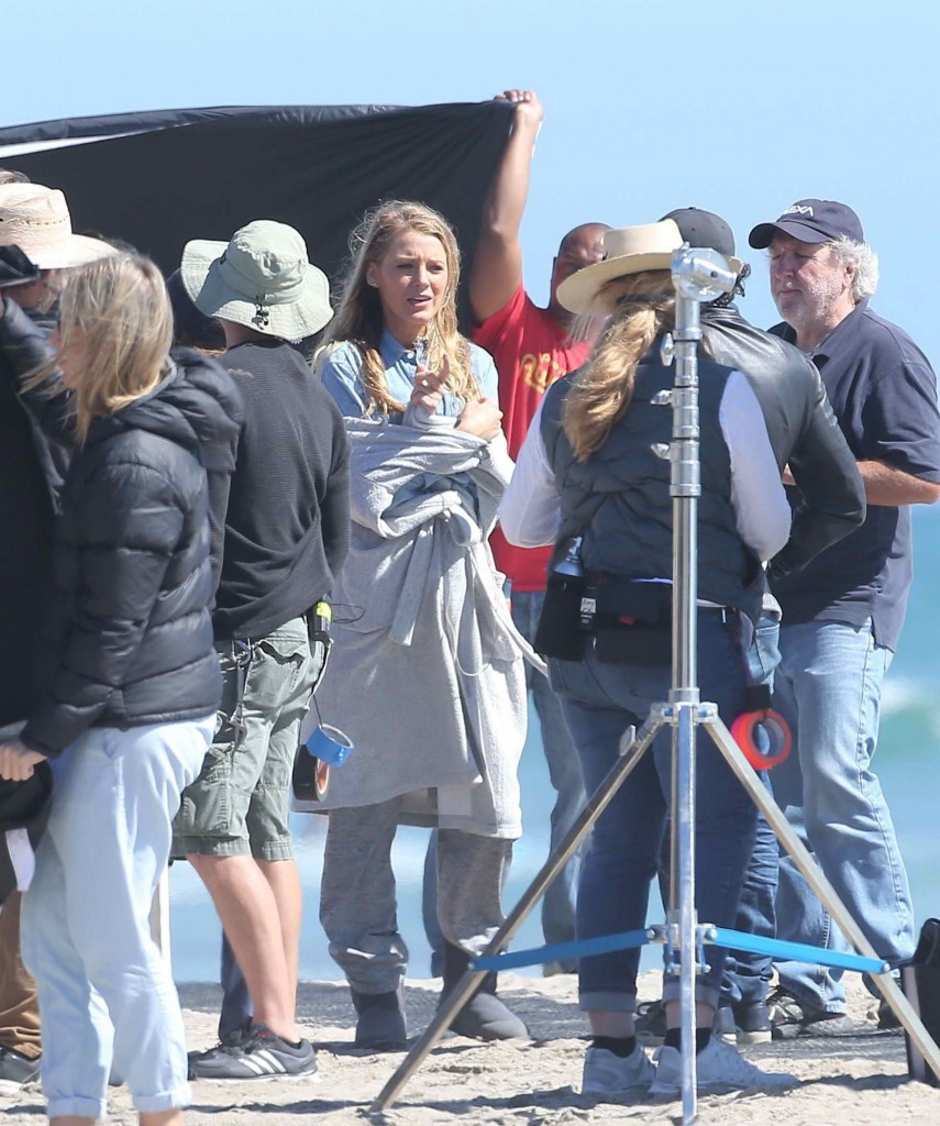 Blake Lively Filming for The Shallows at the Beach in Malibu-4