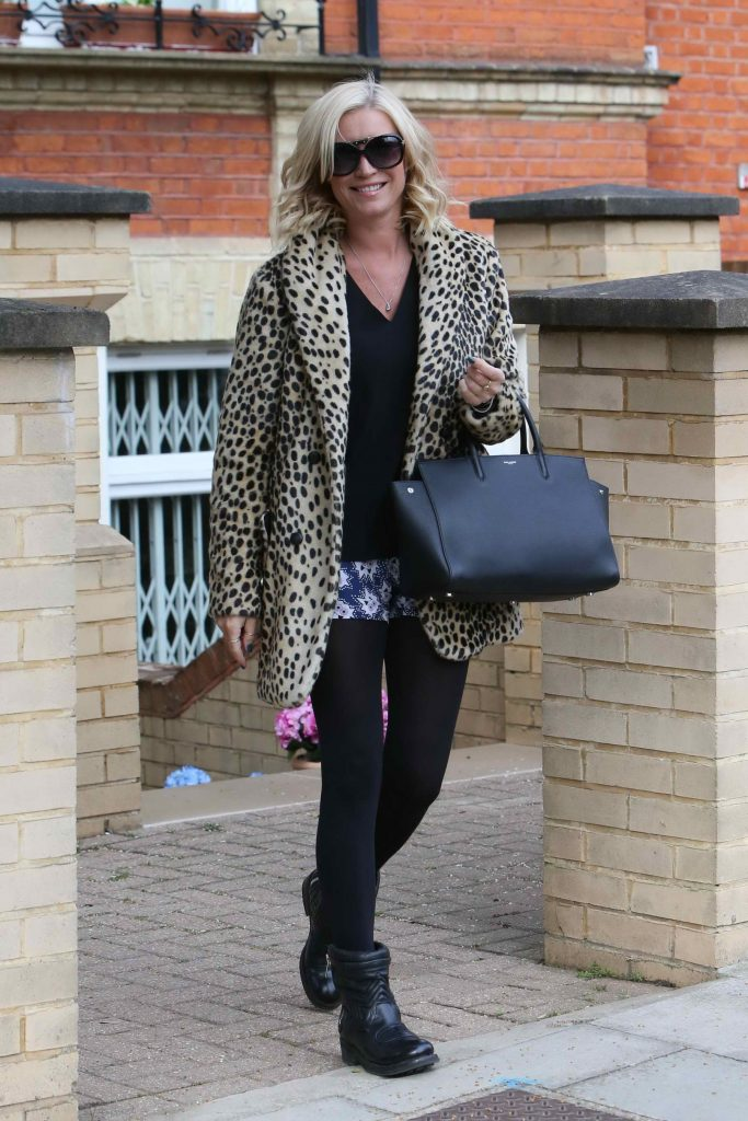 Denise van Outen Leaves Her London Home-1