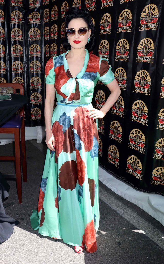 Dita Von Teese at Viva Las Vegas Rockabilly Weekend in Las Vegas-2