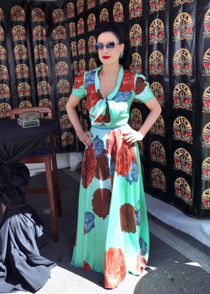 Dita Von Teese at Viva Las Vegas Rockabilly Weekend in Las Vegas-3