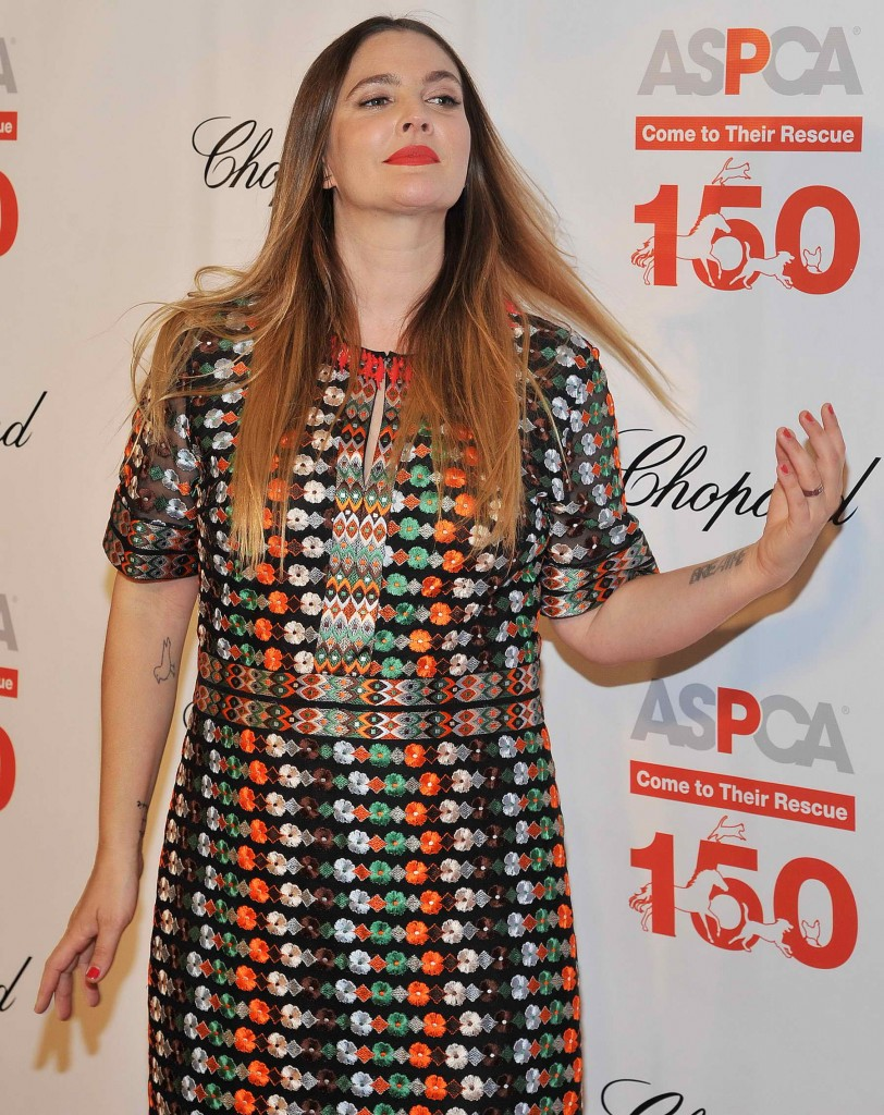 Drew Barrymore at The 19th Annual ASPCA Bergh Ball at The Plaza Hotel in New York-3