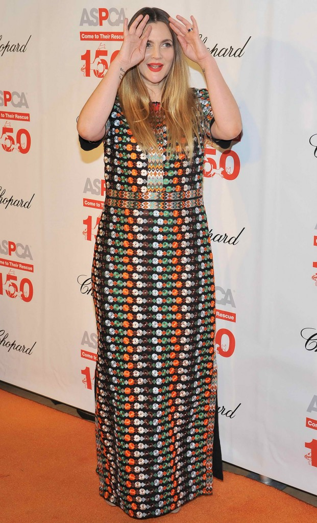 Drew Barrymore at The 19th Annual ASPCA Bergh Ball at The Plaza Hotel in New York-5
