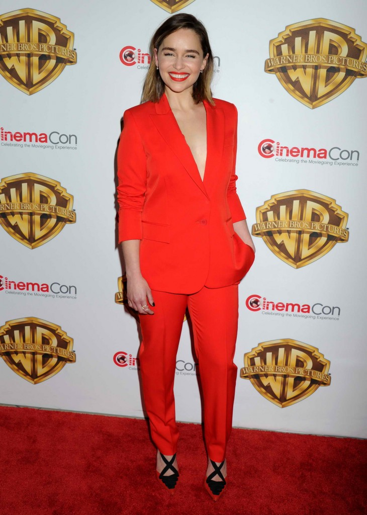 Emilia Clarke at the Warner Bros. Pictures The Big Picture Presentation at CinemaCon in Las Vegas-2