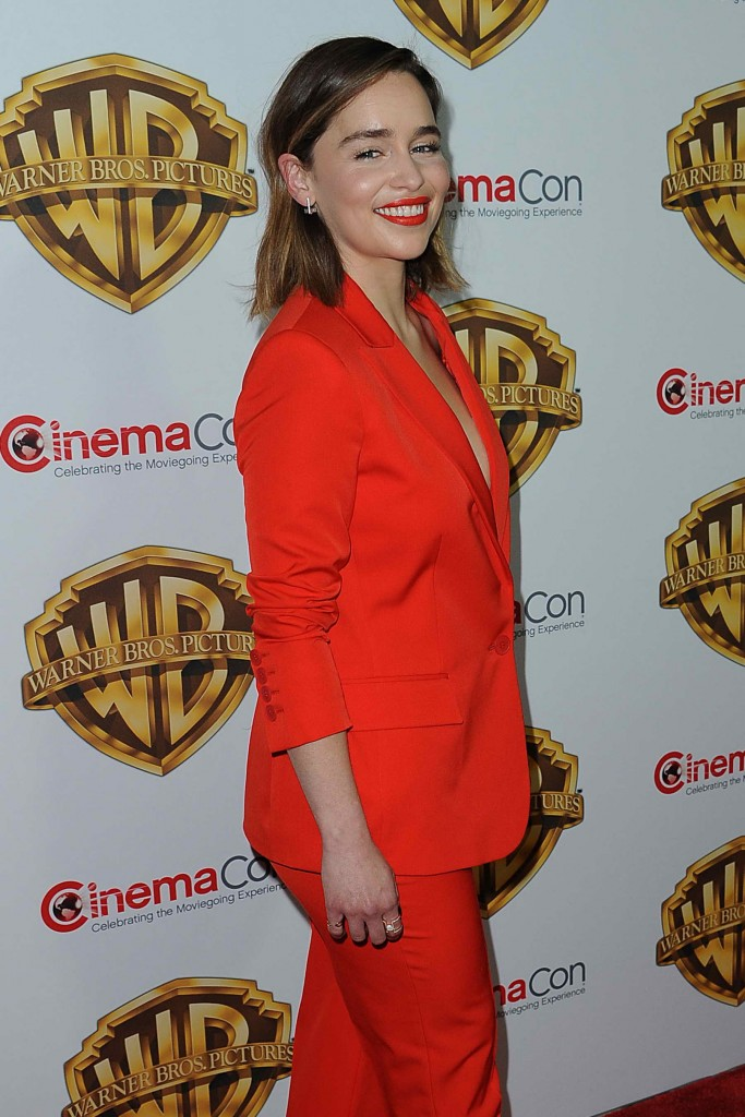 Emilia Clarke at the Warner Bros. Pictures The Big Picture Presentation at CinemaCon in Las Vegas-5