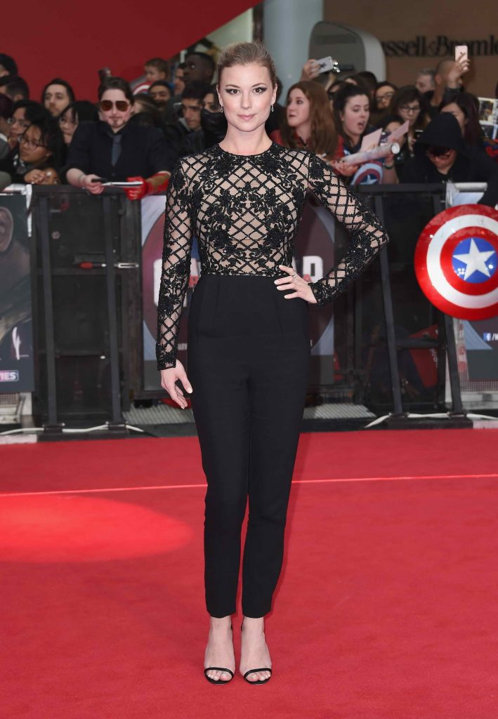 Emily VanCamp at the Captain America: Civil War European Premiere in London-1