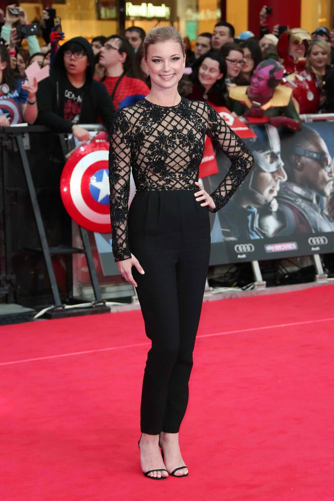 Emily VanCamp at the Captain America: Civil War European Premiere in London-5