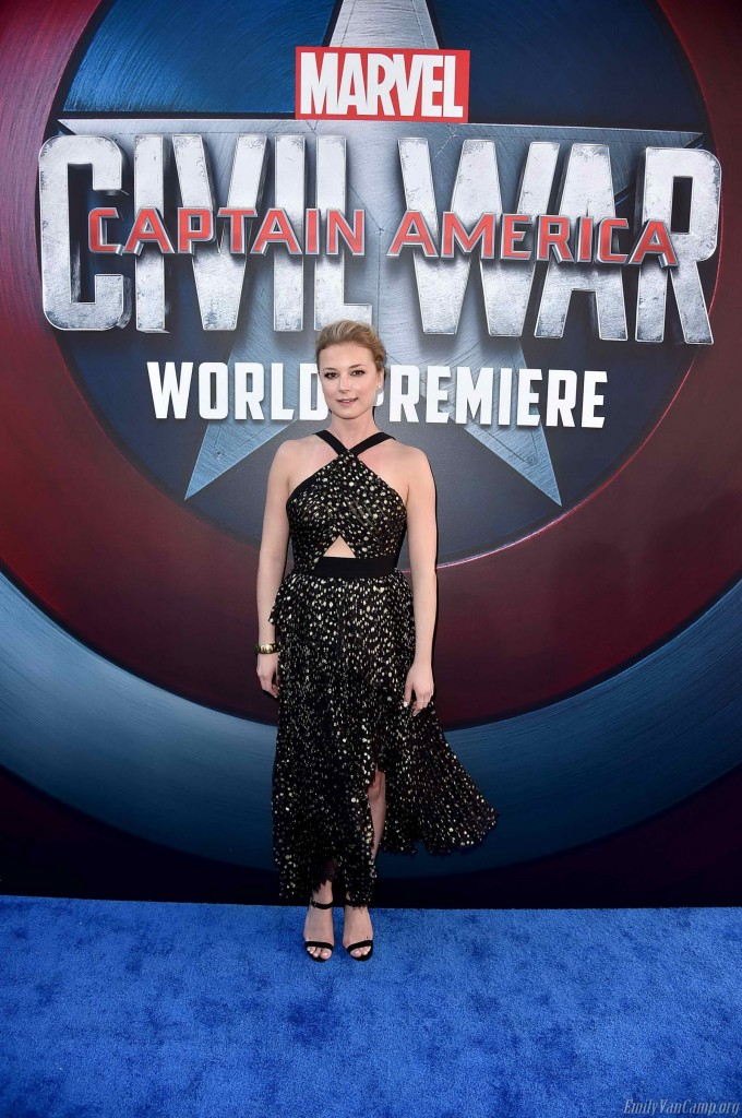 Emily VanCamp at the Captain America: Civil War Premiere in Los Angeles-1