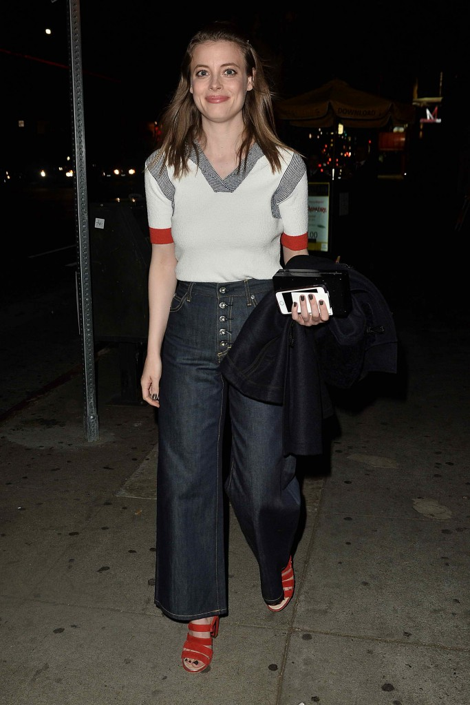 Gillian Jacobs Leaves a Party at El Compadre-1