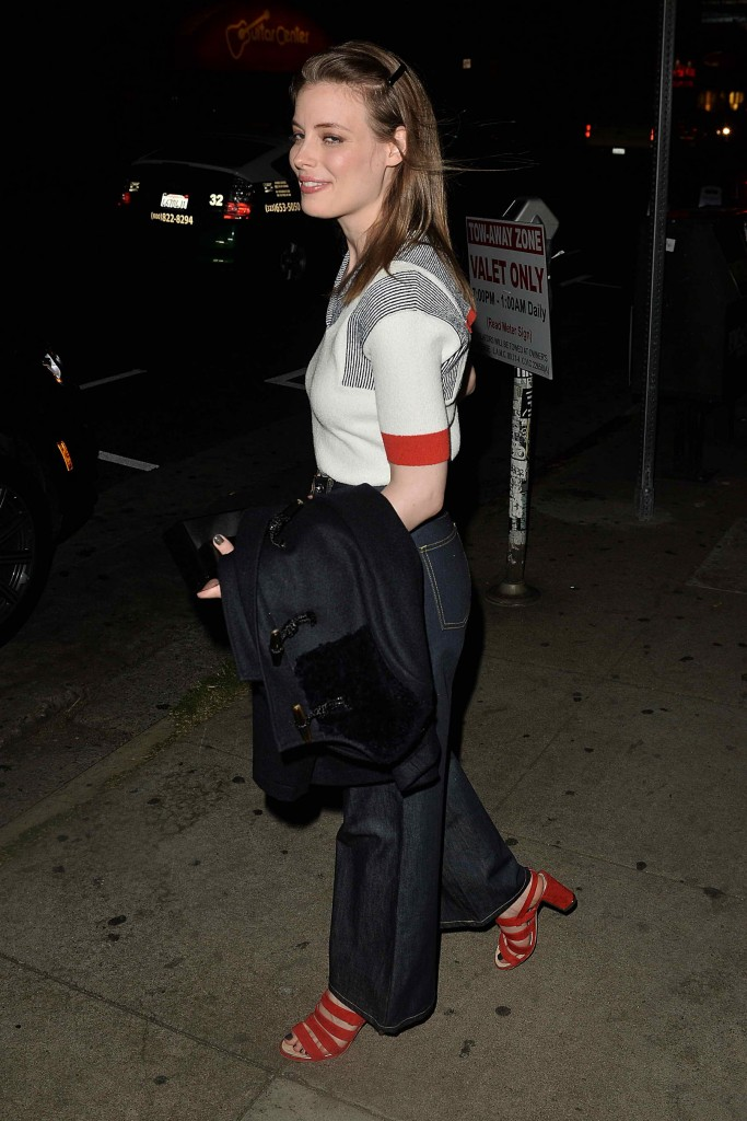 Gillian Jacobs Leaves a Party at El Compadre-3