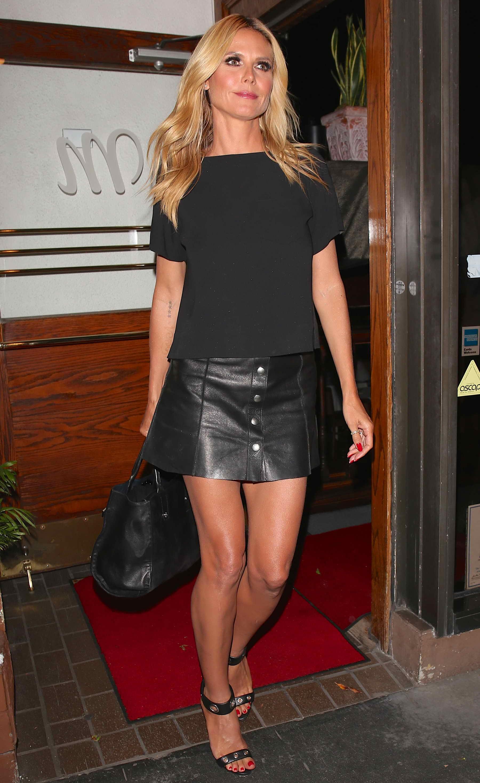 Heidi Klum Leaves A Madeo Italian Restaurant In West