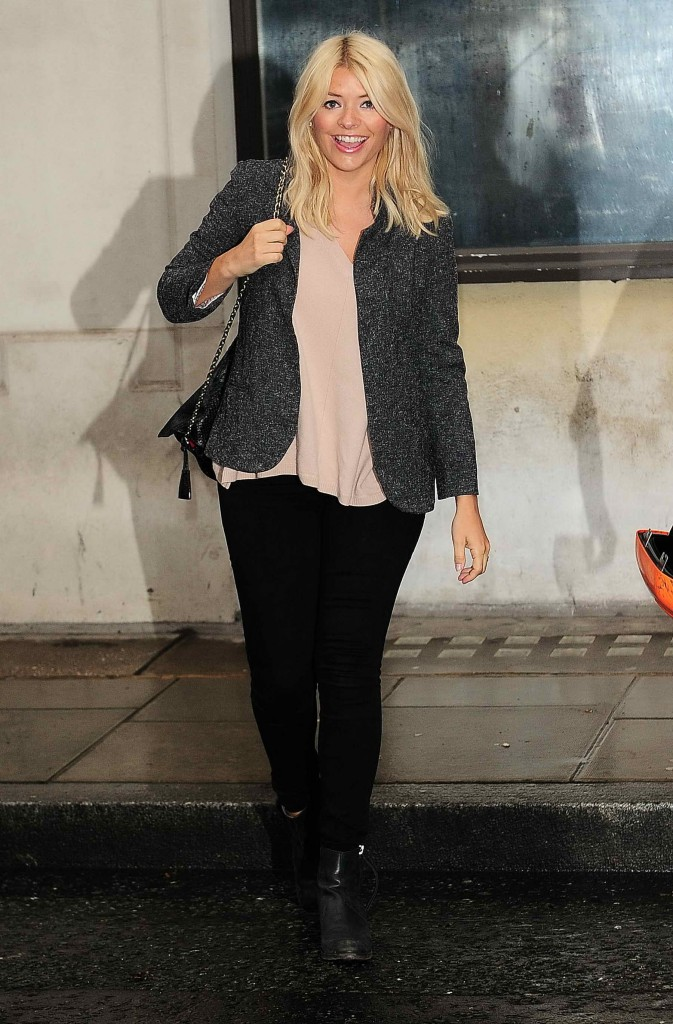 Holly Willoughby Leaves BBC Studio in London-2