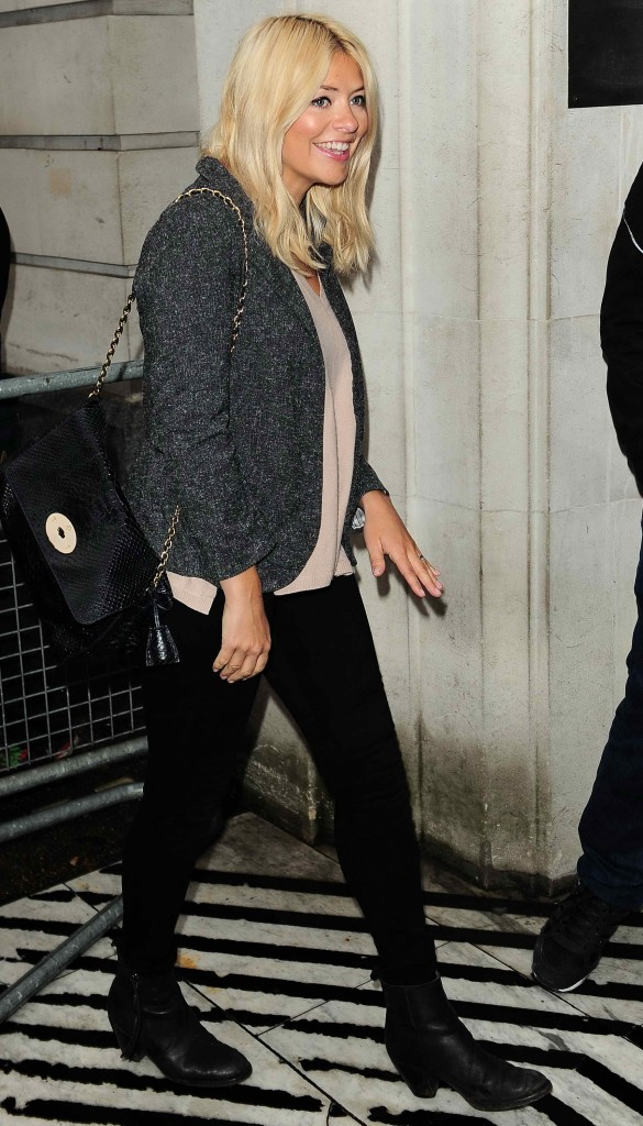 Holly Willoughby Leaves BBC Studio in London-4