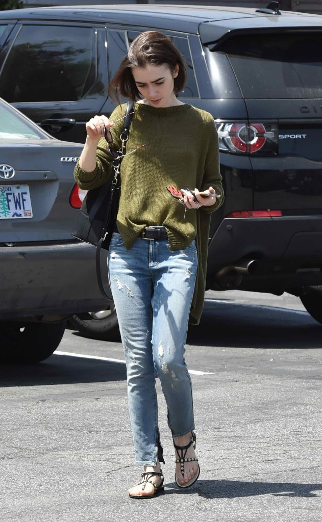 Lily Collins Out and About in Los Angeles-1