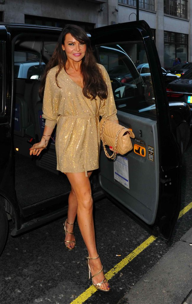 Lizzie Cundy Arrives at GQ Food and Drink Awards in London-2