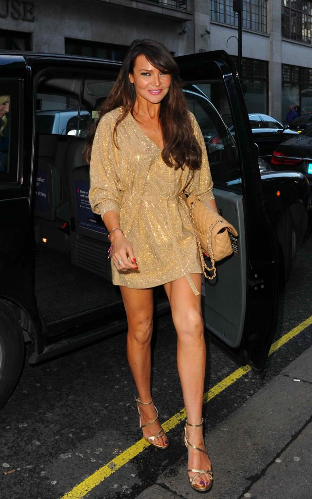 Lizzie Cundy Arrives at GQ Food and Drink Awards in London-3