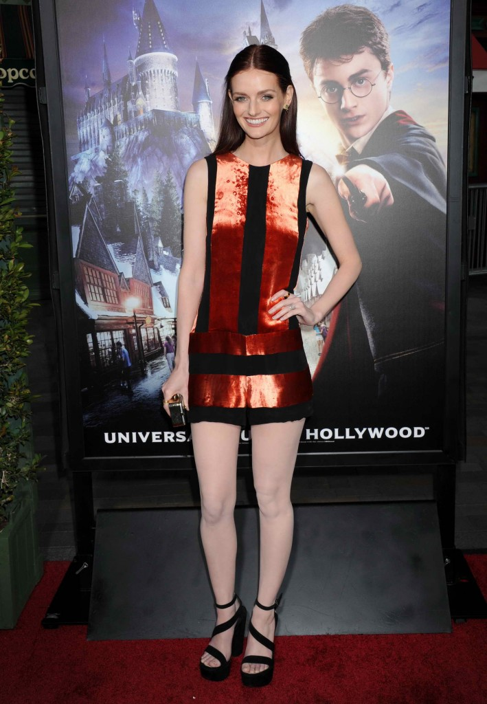 Lydia Hearst at Opening of The Wizarding World Of Harry Potter in Hollywood-3