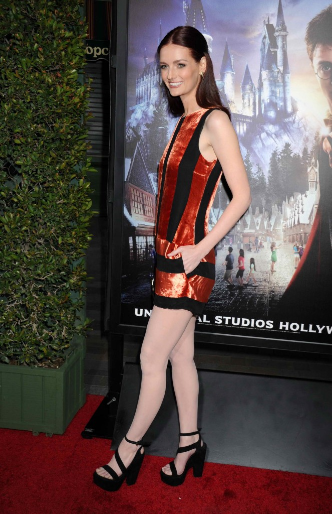 Lydia Hearst at Opening of The Wizarding World Of Harry Potter in Hollywood-4