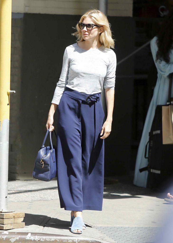 Sienna Miller Walking in Soho-1