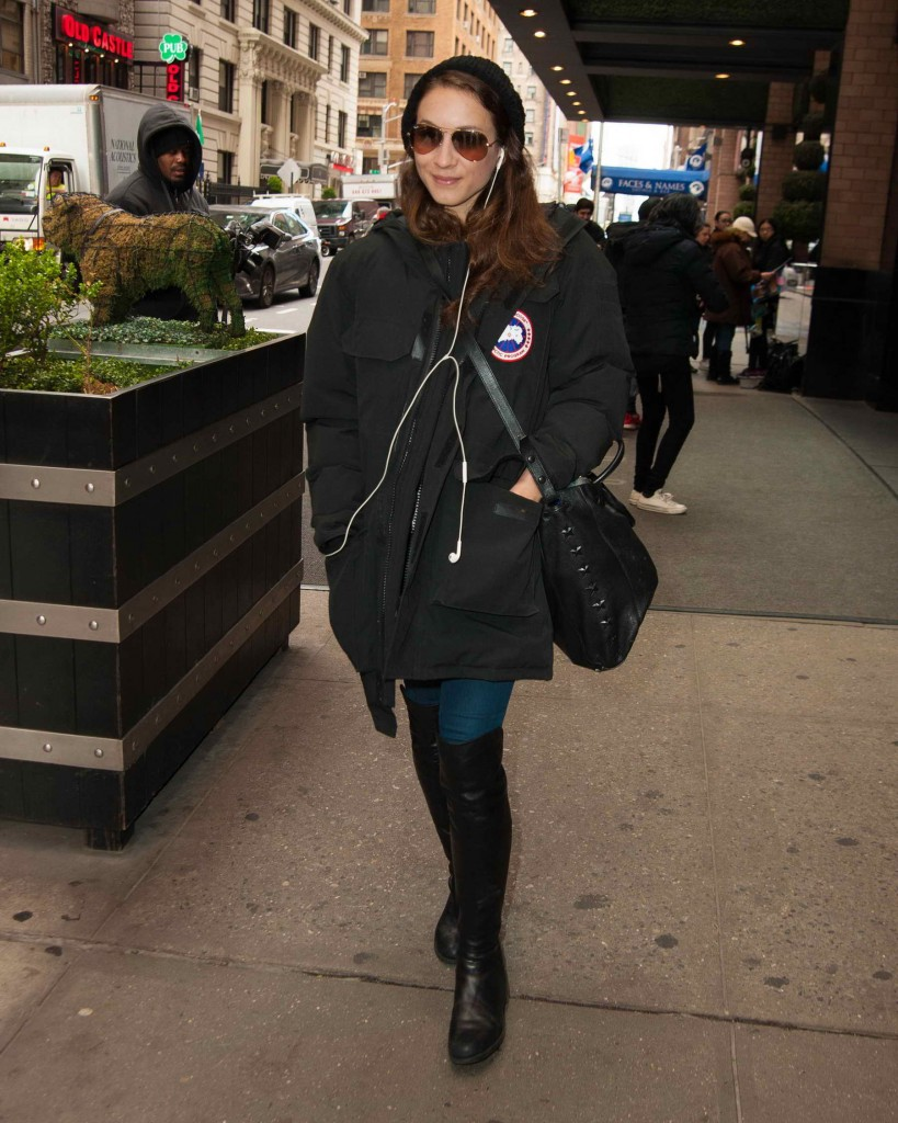 Troian Bellisario Leaves Her Hotel in New York City-1