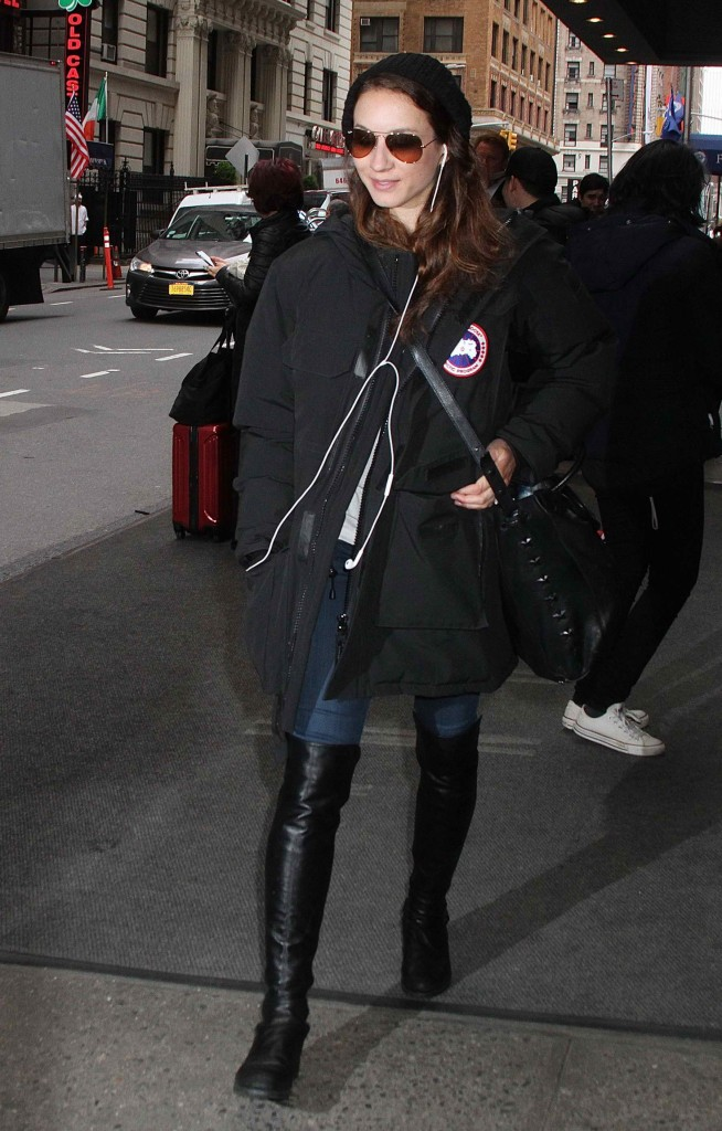 Troian Bellisario Leaves Her Hotel in New York City-3