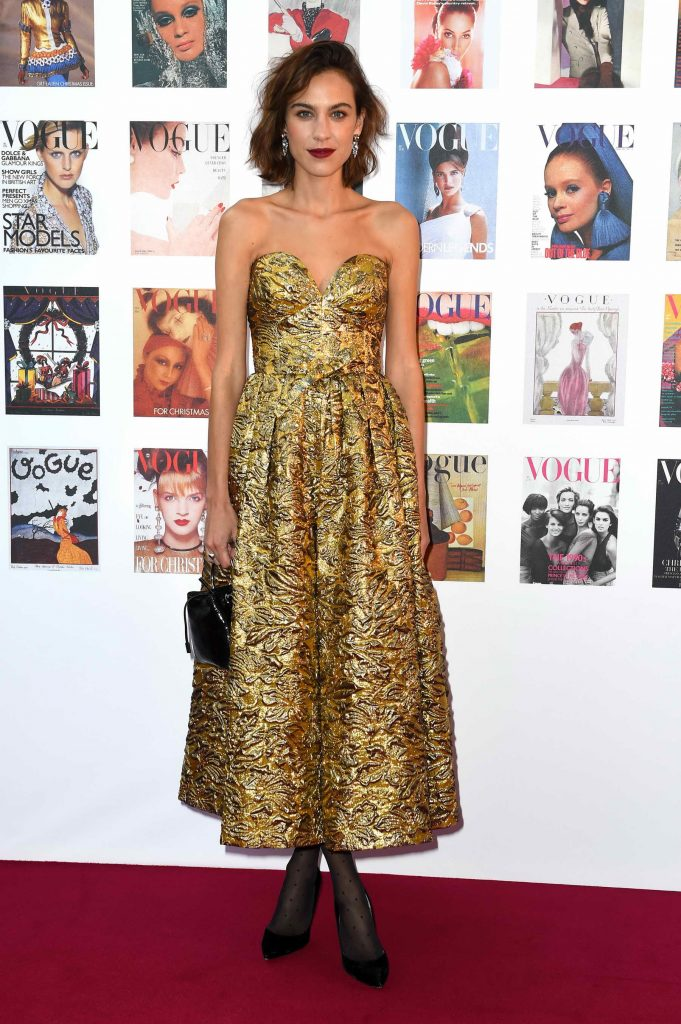 Alexa Chung at the British Vogue Centenary Gala Dinner in London-1