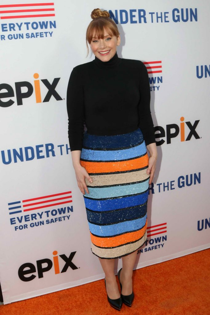 Bryce Dallas Howard at the Under The Gun Premiere in Beverly Hills-1