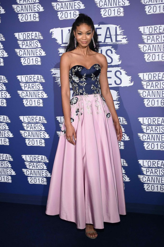 Chanel Iman at the L'Oreal Paris Blue Obsession Party in Hotel Martinez-1