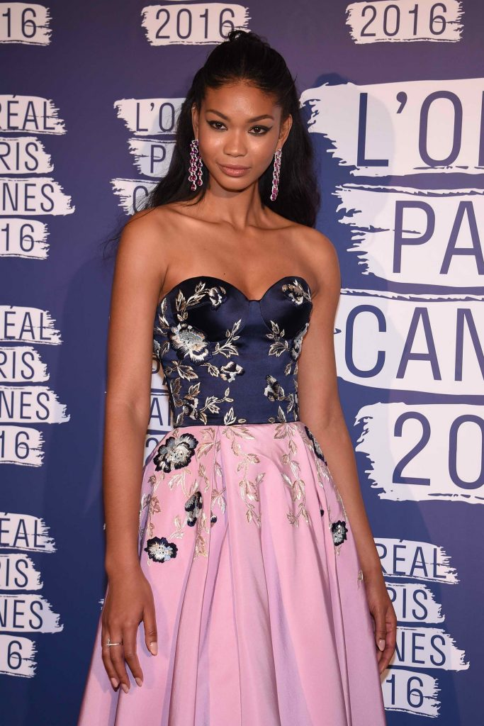 Chanel Iman at the L'Oreal Paris Blue Obsession Party in Hotel Martinez-2