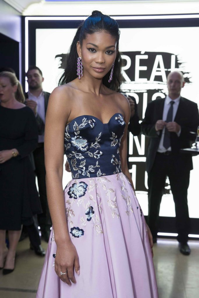 Chanel Iman at the L'Oreal Paris Blue Obsession Party in Hotel Martinez-3