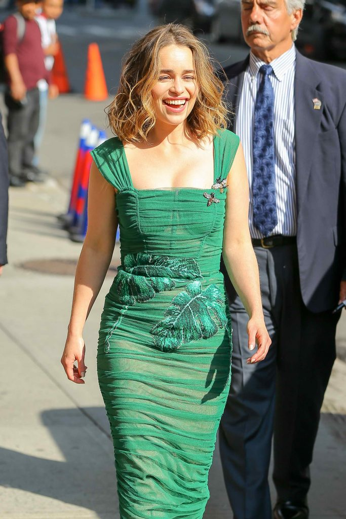 Emilia Clarke Arrives at the Ed Sullivan Theater in New York City-1