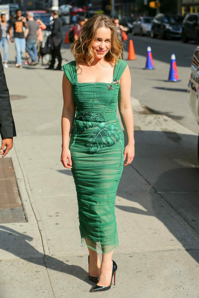 Emilia Clarke Arrives at the Ed Sullivan Theater in New York City-2