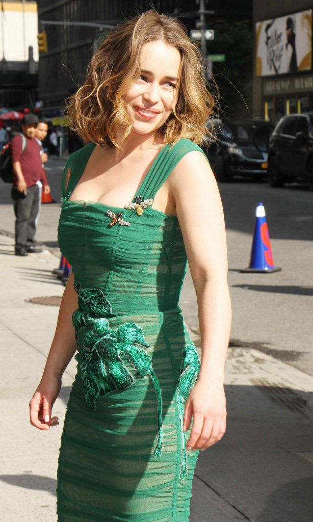Emilia Clarke Arrives at the Ed Sullivan Theater in New York City-5