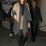 Emily Atack Leaves the Theatre in Nottingham