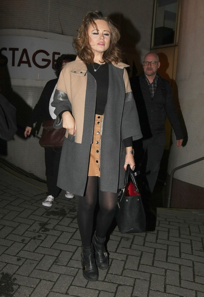 Emily Atack Leaves the Theatre in Nottingham-1