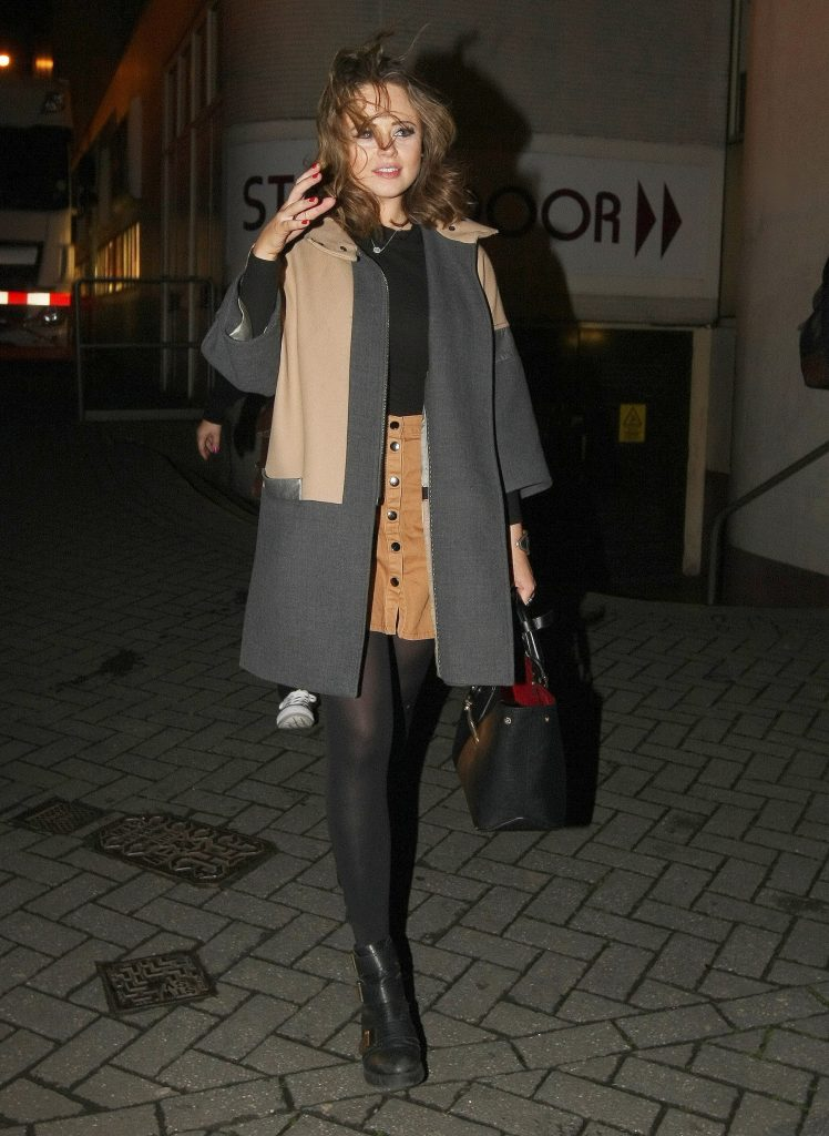 Emily Atack Leaves the Theatre in Nottingham-3