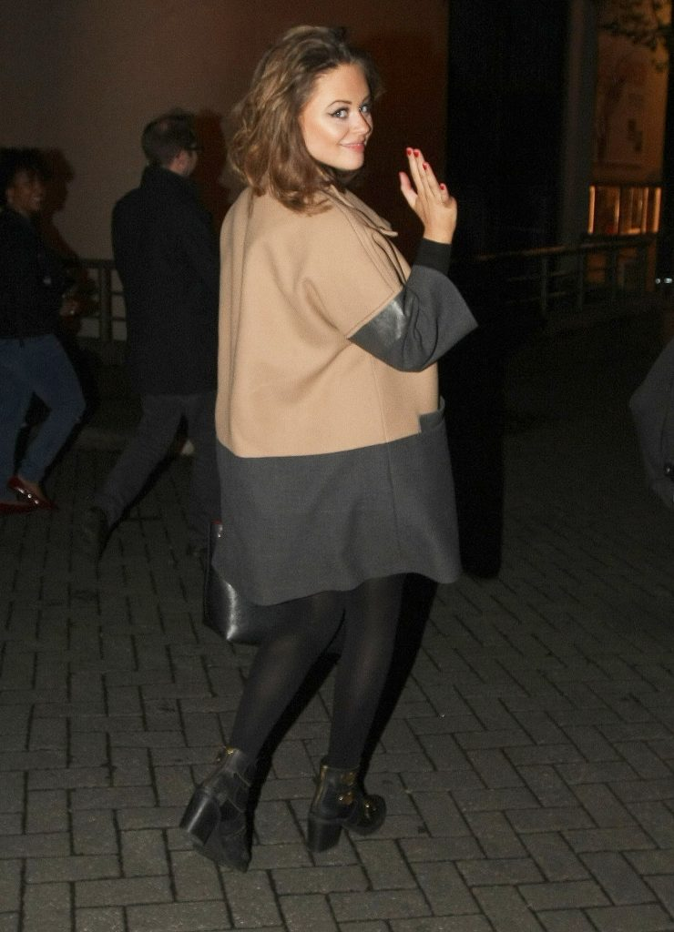 Emily Atack Leaves the Theatre in Nottingham-4