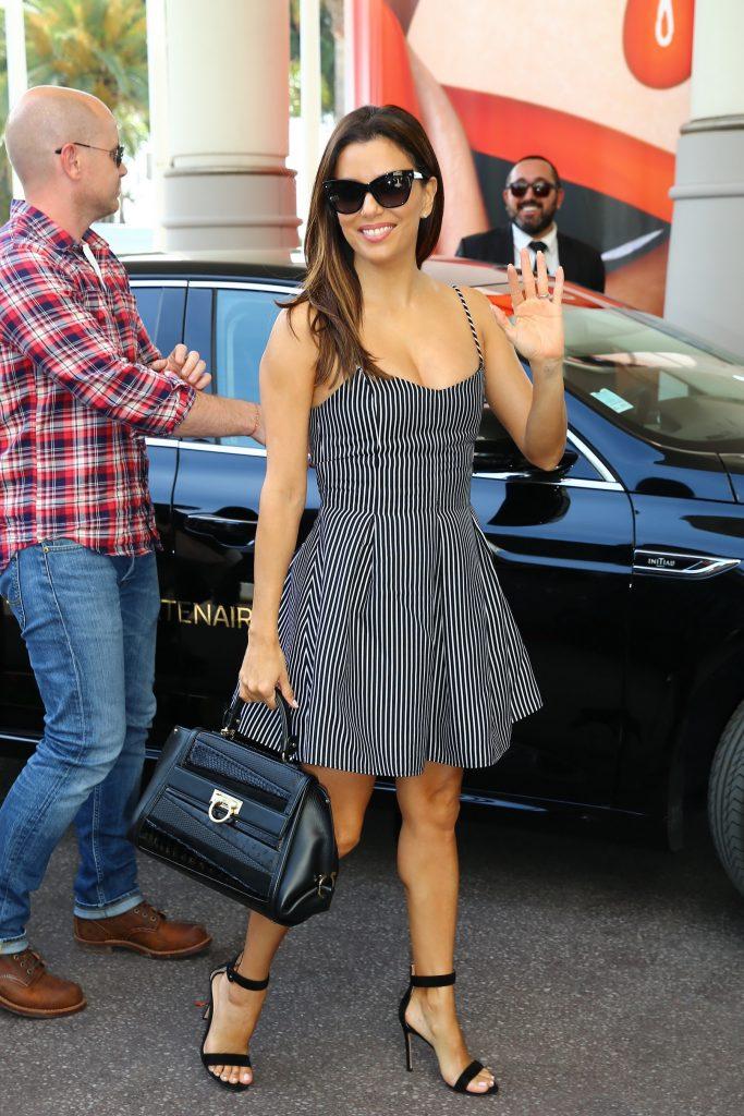 Eva Longoria Arrives at Martinez Hotel in Cannes-1