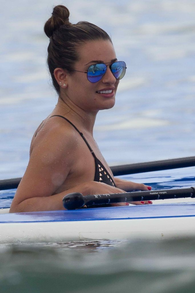 Lea Michele Wearing a Swimsuit at the Beach in Maui-2