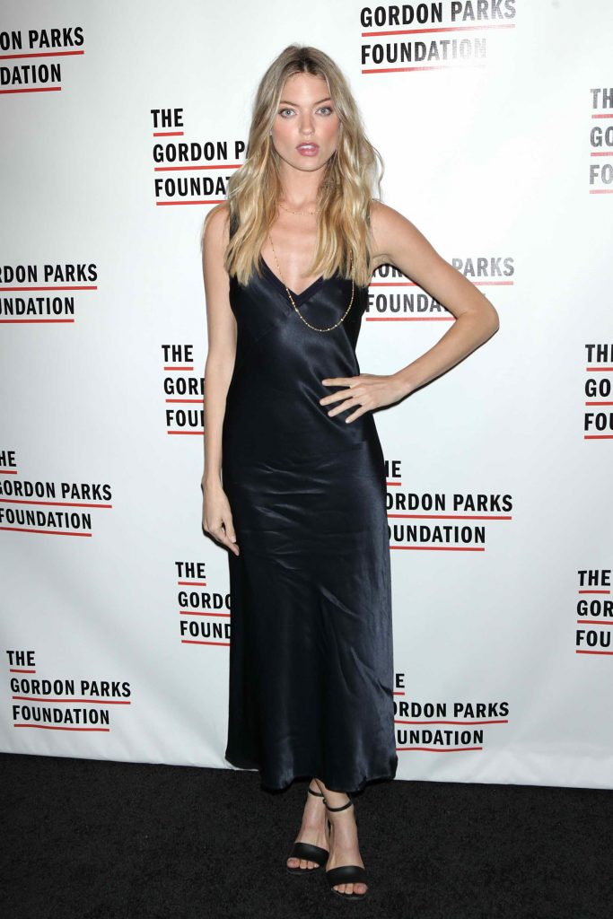 Martha Hunt at 2016 Gordon Parks Foundation Awards Dinner in New York-1