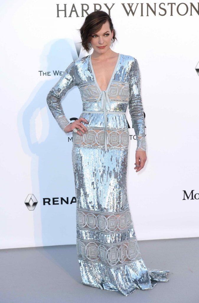 Milla Jovovich at amfAR's 23rd Cinema Against AIDS Gala in Cannes-1