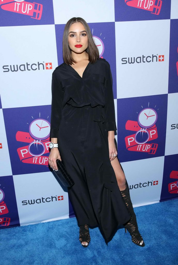 Olivia Culpo at the Swatch Times Square Flagship Store Opening and Launch of the POP Collection in New York City-1