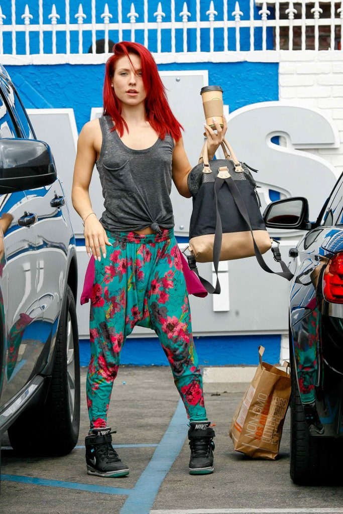 Sharna Burgess at the Dancing With The Stars Studio in Hollywood-1