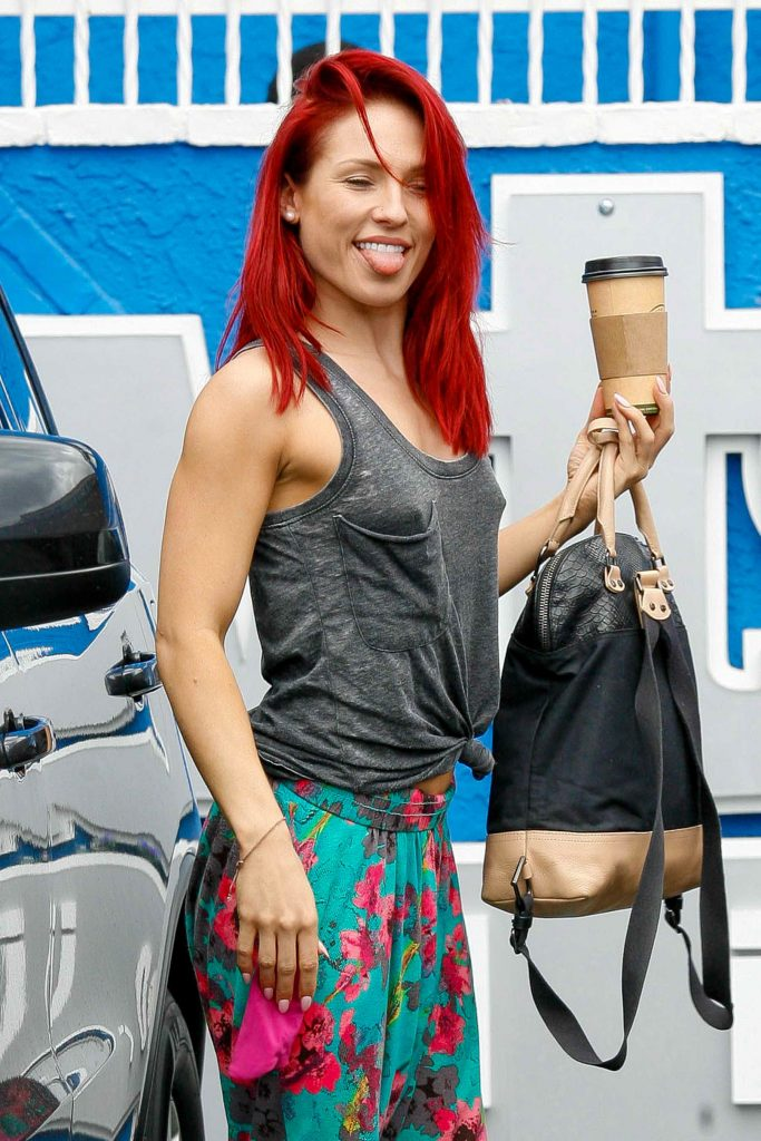 Sharna Burgess at the Dancing With The Stars Studio in Hollywood-2