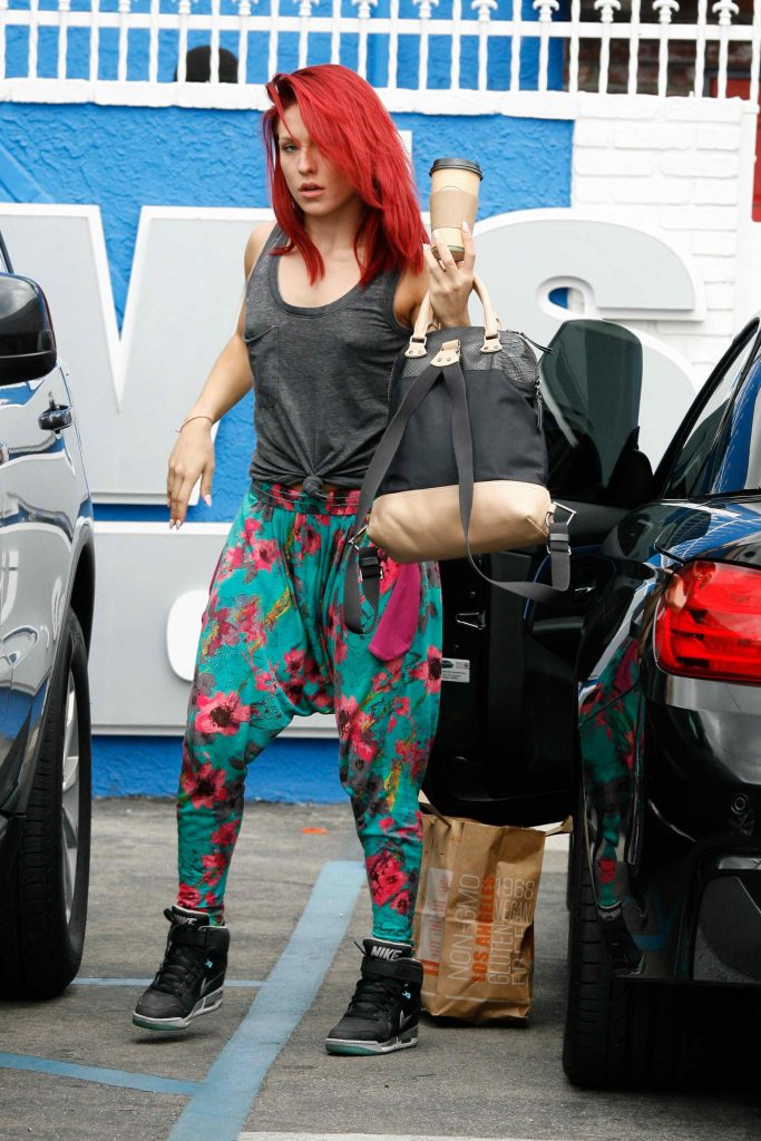 Sharna Burgess at the Dancing With The Stars Studio in Hollywood-3