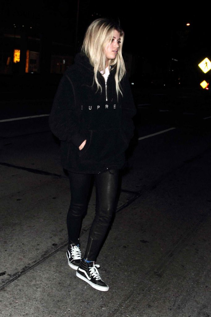 Sofia Richie Leaves Madeo Restaurant in Hollywood-3