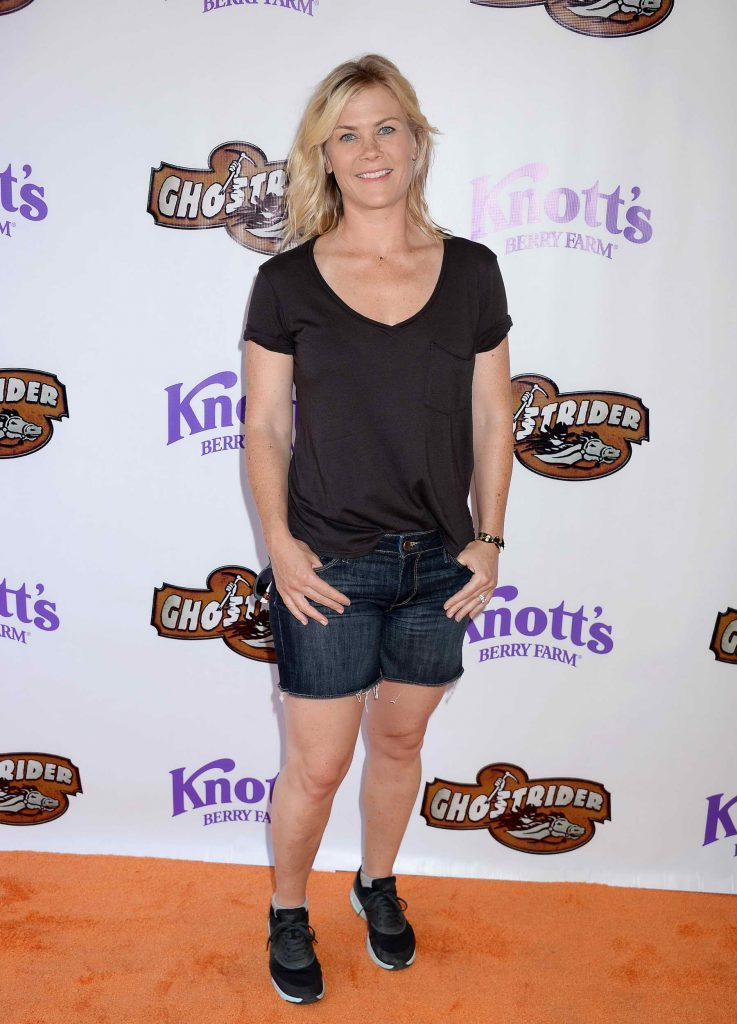 Alison Sweeney at Knotts Berry Farm in Buena Park, California-1