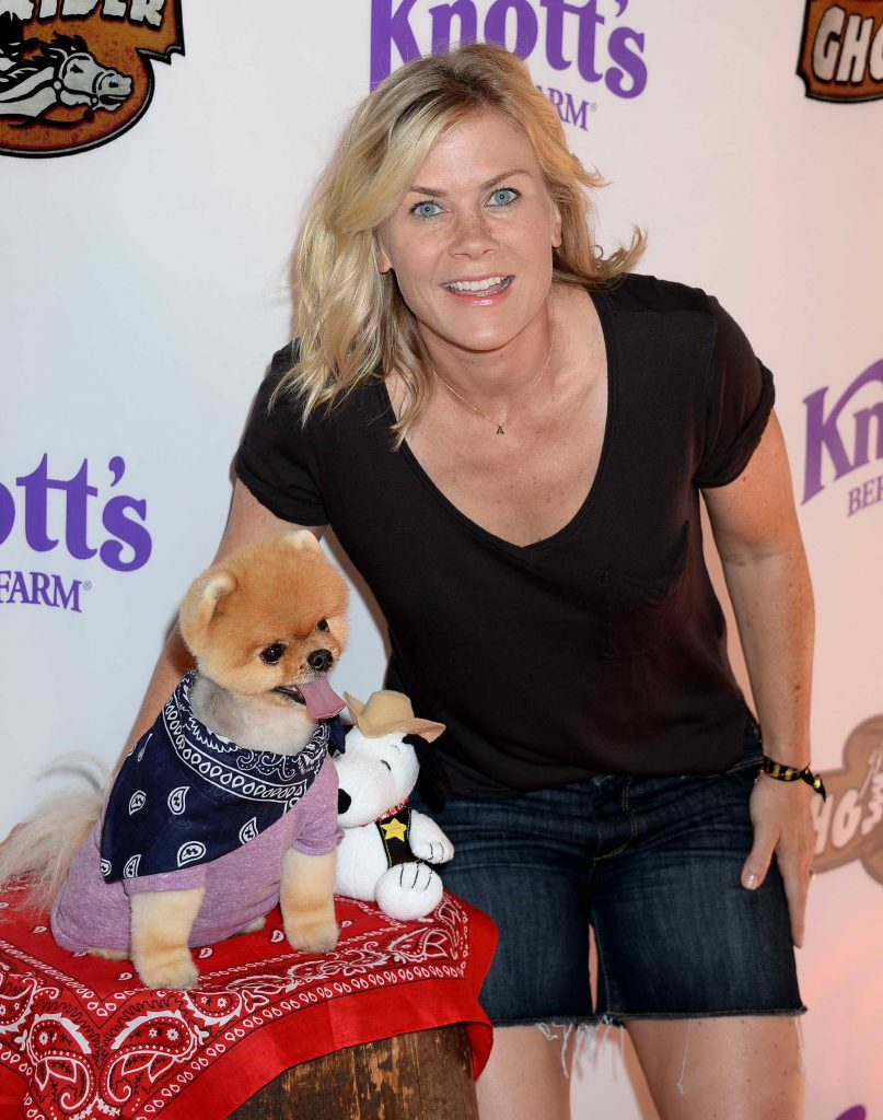 Alison Sweeney at Knotts Berry Farm in Buena Park, California-2